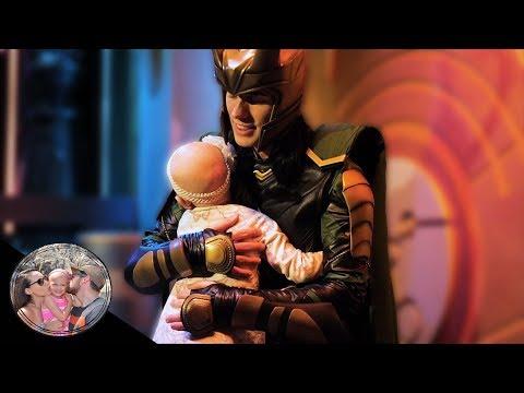 Malia melts Loki's heart with a hug! | Disneyland vlog #76