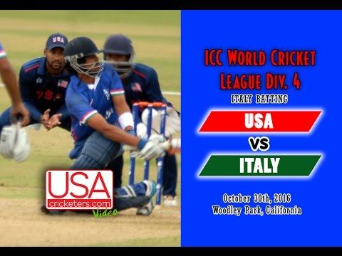 USA Cricket vs Italy at 2016 ICC World Cricket League Division 4 - Part 1