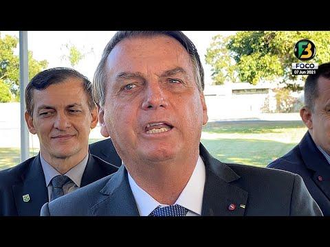 Bolsonaro fala sobre Copa América, Decisão de Barroso, PSOL, Passeio Moto SP, Vacina, Senadores e +