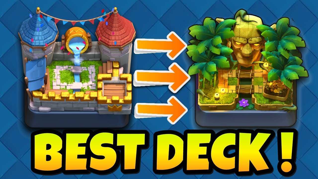 Best Deck For Arena 7 To 9 In 2018 No Legendary Hog Elite Barbarian Ballon Combined Deck Youtube