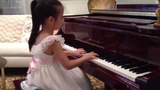 Roxy's Piano Recital Pieces, June 2013, age 6