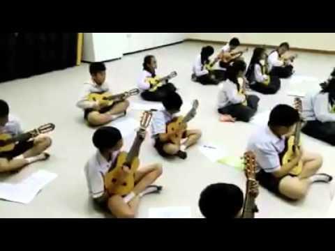 บรรยายกาศการเรียนการสอน วิชาดนตรี ป 5 โรงเรียนอนุบาลนานาชาติตากสินระยอง