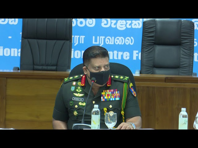 Gen Shavendra Silva, Head of the NOCPCO, CDS & Commander of the Army Briefing to Media on 20.01.2020