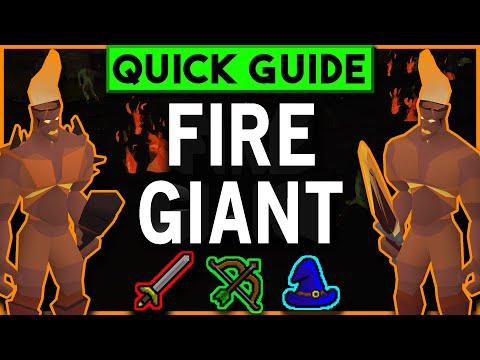 Fire Giants Slayer Guide OSRS - Melee/Range/Magic Setups W/ Safespots + Cannon - JANUARY 2019
