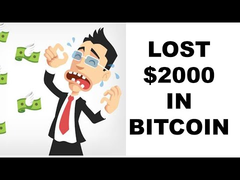 Lost $2000. Sent To Wrong Bitcoin Address