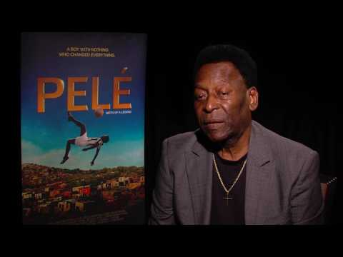PELÉ interview - most recent interview with Pelé, talking about the movie Pelé, Birth Of A Legend