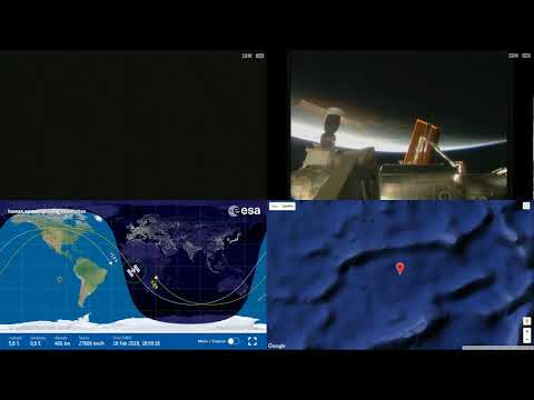 Sunset Over Africa And Atlantic - ISS Space Station Earth View LIVE NASA/ESA Cameras And Map - 83