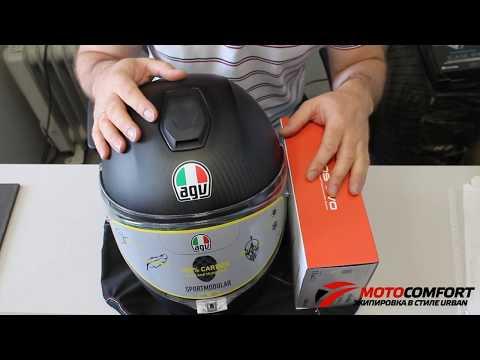 Установка мотогарнитуры SENA 20S-EVO-01 в шлем AGV Sportmodular