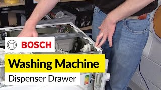 How to Diagnose Dispenser Drawer Problems in a Washing Machine (Bosch)