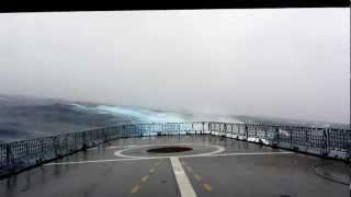 Fregatte LÜBECK im Hurrikan Irina Teil 2