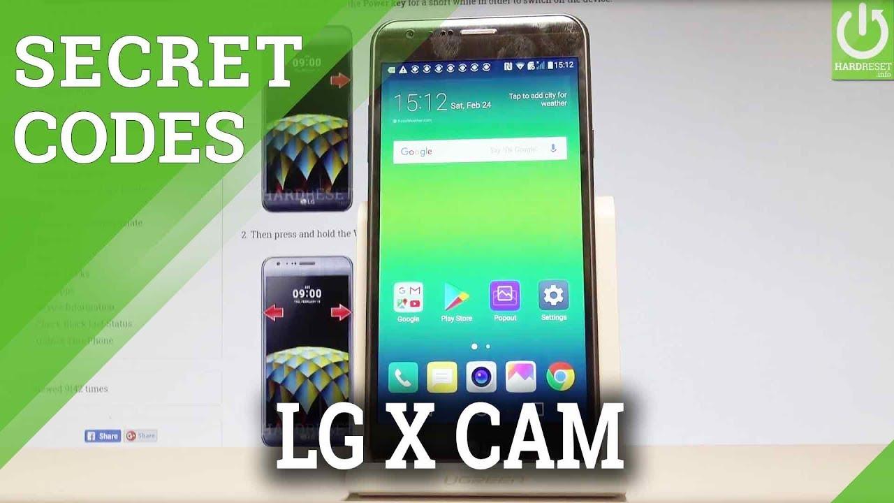 Codes LG X Cam K580H - HardReset info