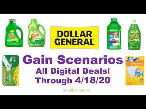 Dollar General Gain Scenarios 4/18/20! All Digital Deals!