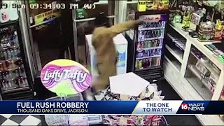 Gas station robbery caught on camera