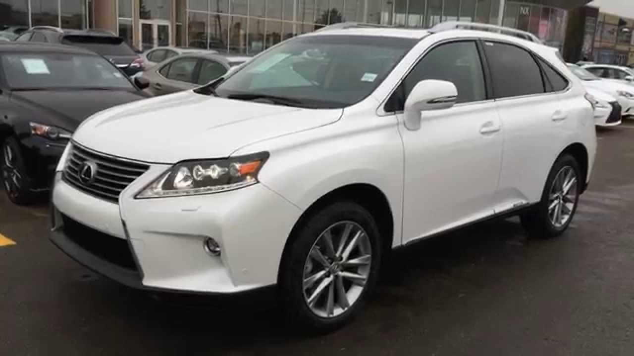 new white 2015 lexus rx 450h awd hybrid executive package review northwest edmonton youtube. Black Bedroom Furniture Sets. Home Design Ideas
