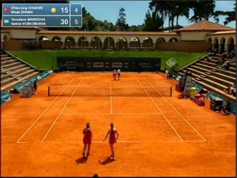 Estoril 2012 - Women Doubles Final - Chuang/Zhang vs Shvedova/Voskoboeva