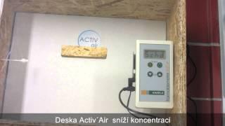 Měření účinnosti sádrokartonové desky Activ´Air