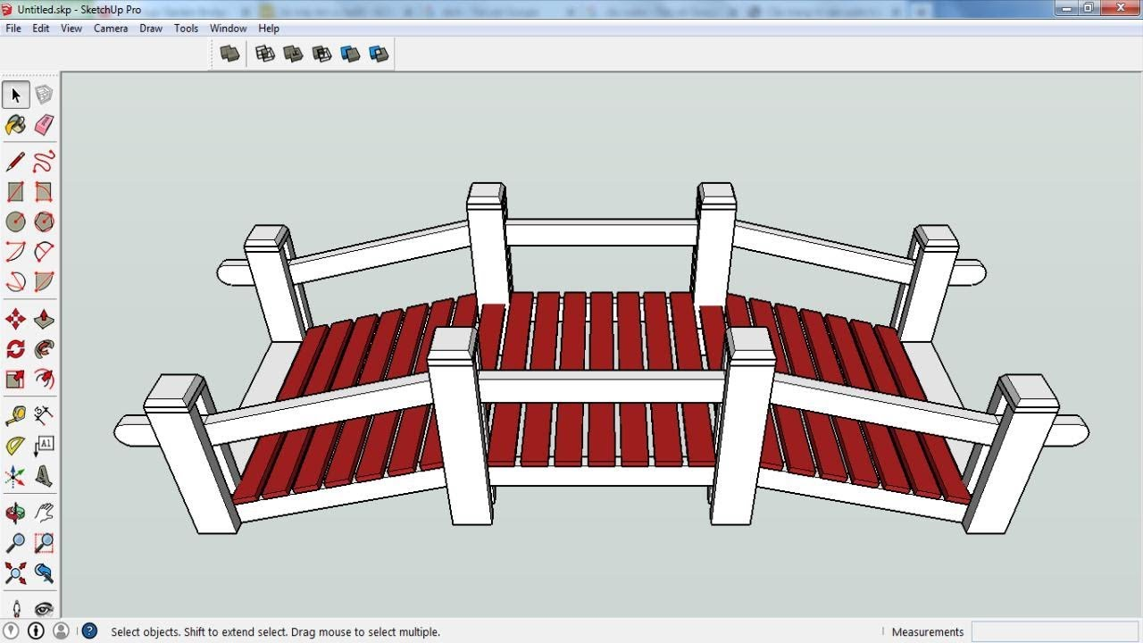 Sketchup: Garden Bridge