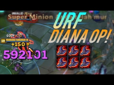 1 HIT DIANA URF OVER POWER!! - League of Legends Indonesia - 동영상