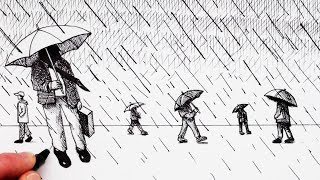 How to Draw People in Perspective in the Rain