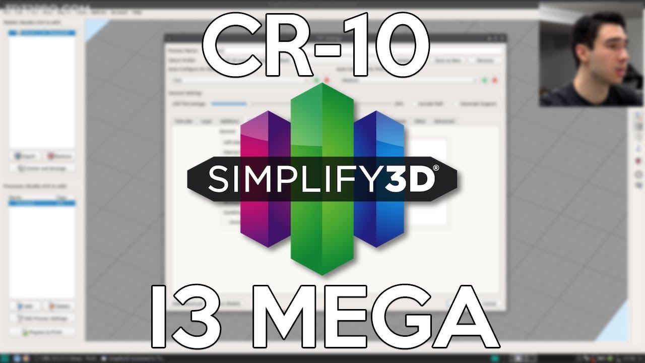 Mes profils Simplify3D pour la Creality CR-10 et la Anycubic i3 Mega