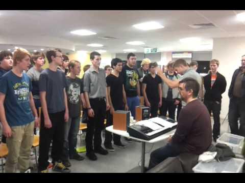 Only Boys Aloud singing Calon Lan in Cwmbran