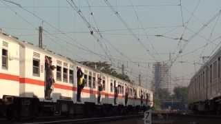"KRL JABOTABEK 中央線 東急8500系・環状線 ""Rheostatic"" Manggarai駅同時発車"