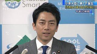 「うれしくほっとしている」小泉大臣に第1子誕生(20/01/17)