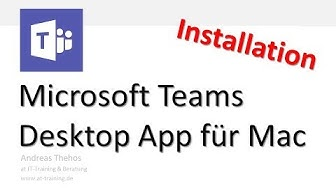 Microsoft Teams am Mac - Desktop App installieren