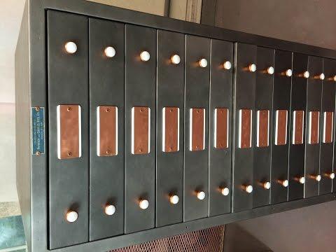 Upcycled Print Shop Cabinet - Vintage Industrial