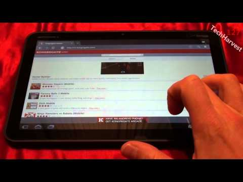 Motorola XOOM: Adobe Flash 10.2 Download & Demo