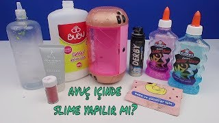 Avuç İçinde Slime vs LOL Kapsülü İçinde Slime Challenge! Yine Annemden Gizli!! Bidünya Oyuncak