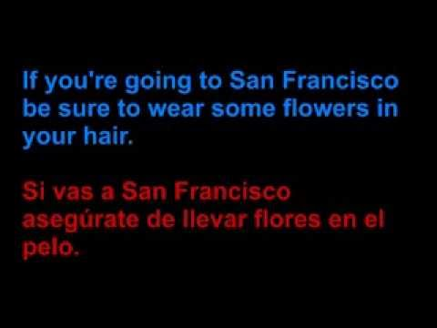 Scott Mc Kenzie - San Francisco - Letra en español y en inglés en la pantalla