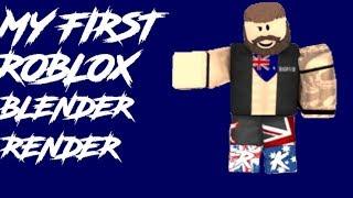 Mein erster Roblox Blender Render!