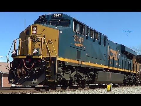 NS Train 230 With CSX ES44AC Locomotive 3 5 2014