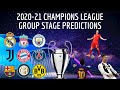 2020/21 Champions League Group Stage Predictions!