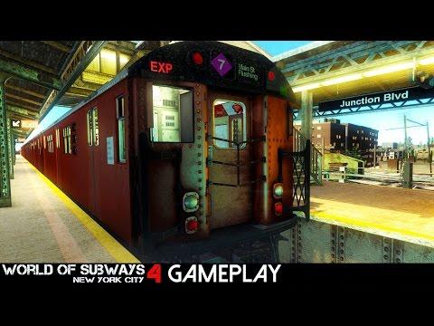 World Of Subways 4 - New York Line 7 Gameplay (PC HD)