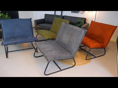 Moderne fauteuil Paris cognac