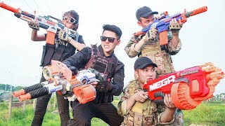 LTT Nerf War : Special police SEAL X Warriors Nerf Guns Go Patrol Fight Attack Criminal Group