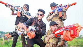 LTT Nerf War : Special police SEAL X Warriors Nerf Guns Go Patrol Fight Attack Criminal Group