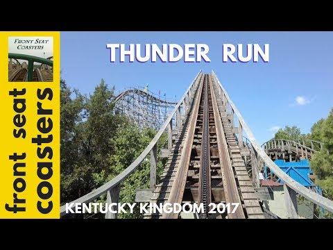Thunder Run POV HD Kentucky Kingdom 2017 Front Seat OnRide Roller Coaster FSC_MidwestMayhem2017