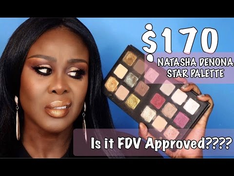 $170 Natasha Denona Star Palette | For Deeper skin Tones??? | Review, Swatch & Tutorial.