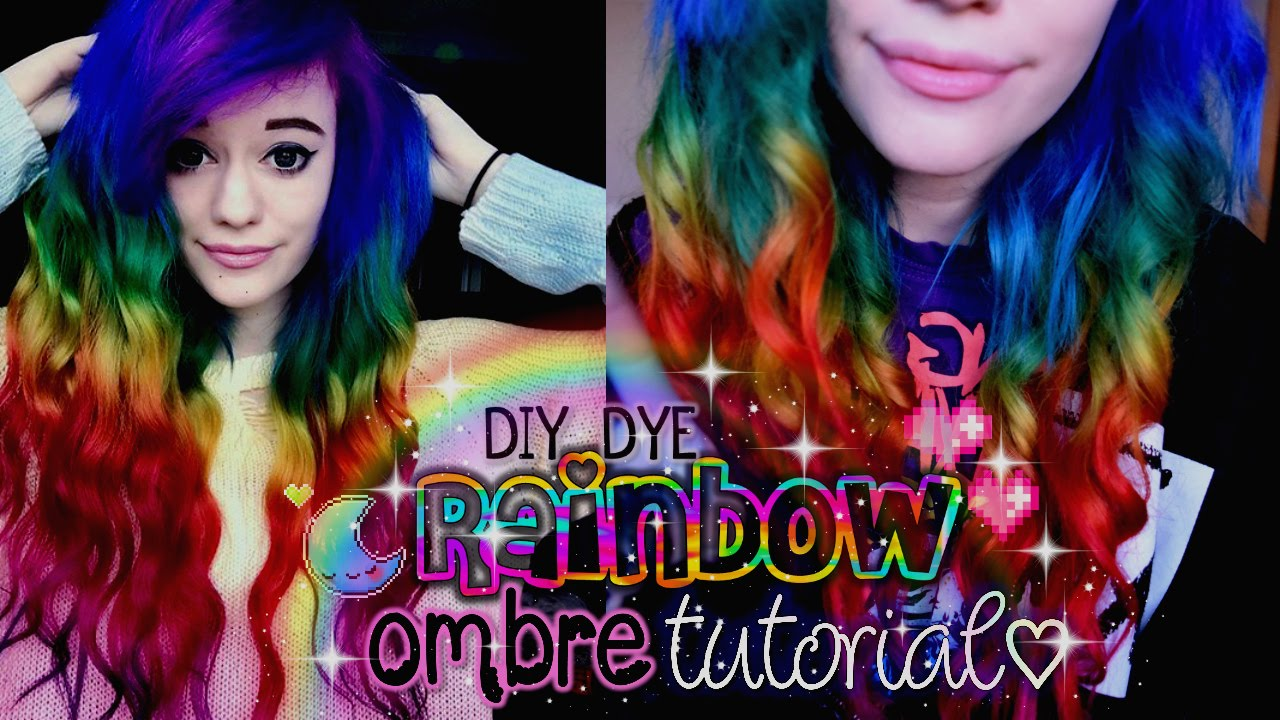 2019 year for women- Ombre Rainbow hair dye