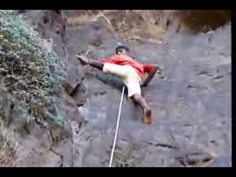 Kailash free climbing 40ft Alang patch