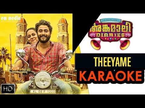 Theeyame Karaoke | Angamaly Diaries(em media-musicfactory)
