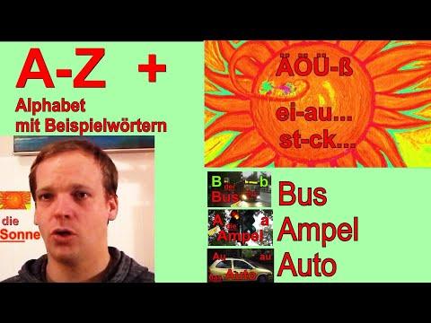 Deutsch Lernen - Videos - Alphabet - Aussprache - Anlaut & Namen Der Buchstaben - Abc Mit Bildern