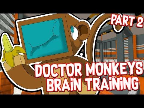 THE SMARTEST MONKEY ALIVE!! #2 - Doctor Monkeys Brain Training!! - Minecraft Custom Map