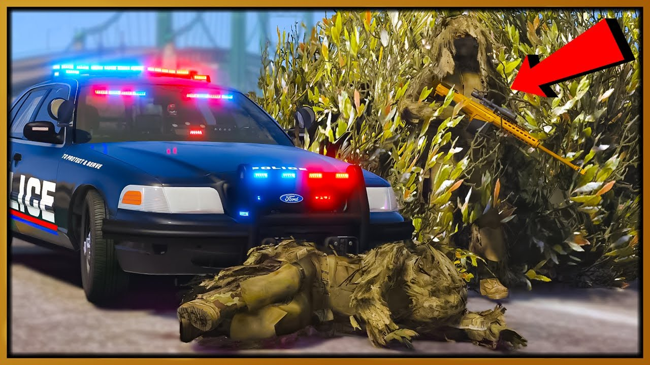 GTA 5 Roleplay - GHILLIE SUIT SNIPERS TROLLING COPS | RedlineRP