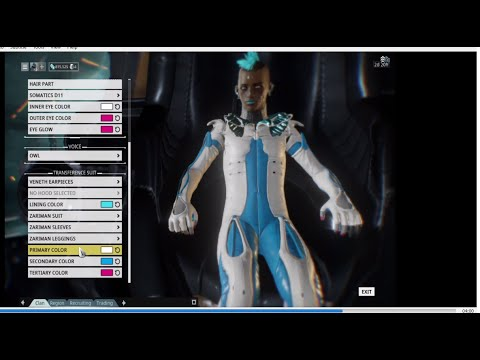 Warframe U18 First Look At Customizing The TennoSpoiler