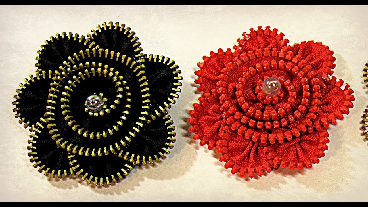 Tutorial zipper brooch broche de cremallera youtube - Broches de pelo ...