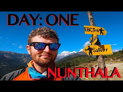 SOLO TREKKING EVEREST B.C. | Salleri To Nunthala | 8 Hour Hike | DAY ONE